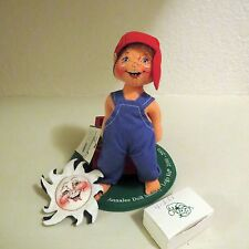 "Vtg Annalee 2000-2001 Doll Society 7"" Logo Kid Precious Cargo w Tags w Pins"