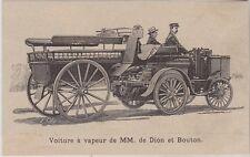 1894  --  VOITURE A VAPEUR DE MM DE DION ET BOUTON   3I545