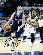 Robbie Hummel Minnesota Timberwolves Signed 8x10 Photo LOM COA (PH2212)