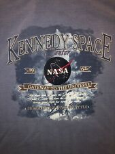 NASA Kennedy Space Center Sweatshirt Crewneck Adult M Blue Florida Cocoa Beach