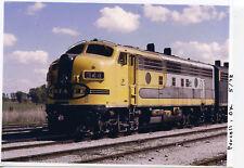 7DD250 RP 1973 AT&SF SANTA FE RAILROAD ENGINE #344 PURCELL OKLAHOMA