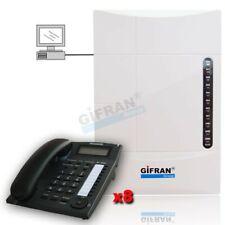 Centralino telefonico analogico 3/8 linee Disa 90 sec + 8 telefoni Panasonic PC