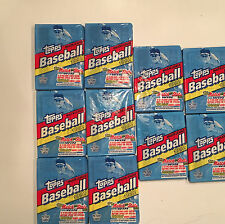 Lot (10) Vintage Baseball Card Wax Packs Topps 1992