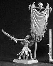 REAPER MINIATURES Dark Elf Demon DARKSPAWN STANDARD BEARER Warlord 14530