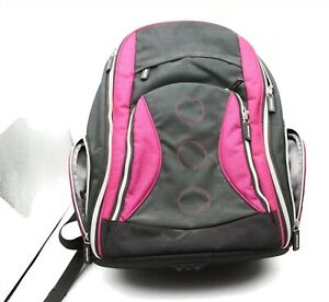 IKEA Family Black and Pink School Laptop Lockable Zippers Unisex Nice Condition