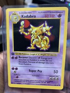 Kadabra 32/102 Base Set 1st Edition Shadowless Uncommon Card