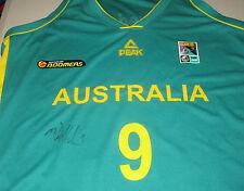 00725f9629b Matthew Dellavedova signed Australian Boomers Basketball jersey green+ proof