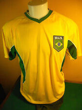 Brazil National Team Mens Large Yellow Soccer Jersey Replica By Rhinox Brasil