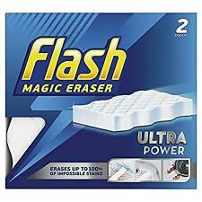 Flash Magic Eraser Ultra Power Pack of 2 Reusable Erases Stains/Scuffs Kitchen