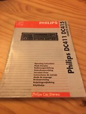 Philips DC411 DC415 autoradio notice utilisation mode d' emploi éd. 93