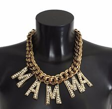 NEW DOLCE & GABBANA Necklace MAMMA Pearl Choker Statement Jewelry Sicily