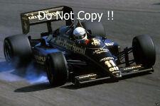 Elio de Angelis JPS Lotus 97T Italiana Grand Prix 1985 fotografía