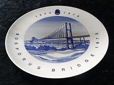 Collectors plate - Plate to commemorate 50 years of the Bosporus bridge, Turkey