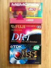 Blank Audio Cassette Tapes-Lot Of 3-Memorex, FujiAnd TDK-60, 90 & 120 Minutes