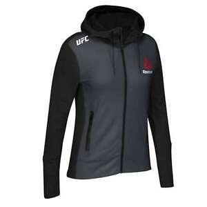 Reebok Women's X UFC FK Walkout Full Zip Long Sleeve Hoodie Jacket Tag-less NEW