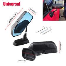 2x Universal F1 Style Carbon Fiber Car Anti-glare Blue Side Rear View Mirrors