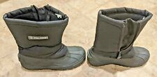 Polaris Thinsulate Mens Zip Up Black Boots Size 10 GREAT CONDITION LOOK AT PICS