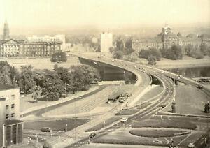 AK, Dresden, Blick auf die Dr.-Friedrichs-Brücke, 1977