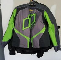 ICON Overlord 2 Textile Motorcycle Moto Jacket Coat Armored L USED AUTHENTIC