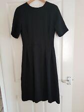 H&m Black Skater Honeycomb Midi Dress Size 12/14