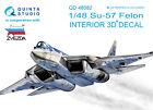 Quinta QD48082 1/48 Su-57 3D-Printed  coloured interior for Zvezda kit