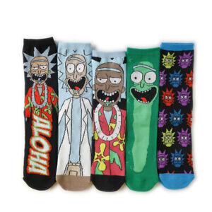 Anime Rick Cotton Socks Cartoon Casual Dress Stockings