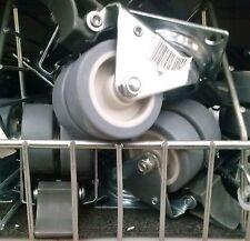 """Set of 4 Heavy duty 2"""" Swivel Caster double Wheel Rubber base Brakes 8 5 1 4 2"""