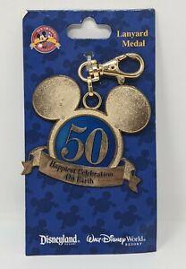 Disney Lanyard Medal Happiest Celebration On Earth 50th Anniversary