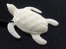 Amulett Schildkröte Knochen Anhänger inkl. Band Handarbeit Halskette Talisman