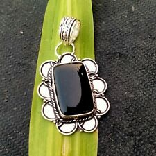 Black Onyx Gemstone 925 Silver Pendants Handmade Jewelry HO342