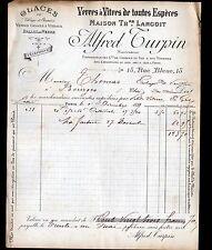 """PARIS (IX°) VERRES à VITRES / VITRAUX """"Th. LANGOIT / Alfred TURPIN"""" en 1897"""