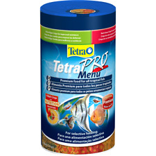 Tetra Pro Menu 64g Algae Colour Energy Growth Crisps Tropical Aquarium Fish Food