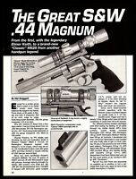 1998 The Great S&W SMITH & WESSON 629 .44 Magnum Revolver 3 1/3 pg Article