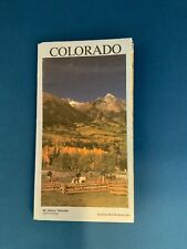 New listing Vintage Colorado Map With A Picture Of Mount Wilson Telluride