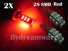 2X T10 28SMD 1210 LED Red 194 168 W5W 2825 Wedge Car Lamp Light Bulb 12V A031