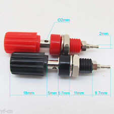 100pairs Copper 4mm Long Binding Post For 4mm Banana Plug Test Connectors R+B