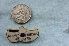 CURLING LAPEL PIN ALBANY WHISKS SHOE 1958