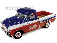 AUTOWORLD AW207 1957 CHEVROLET CAMEO PICK UP TRUCK 1/18 DIECAST PEPSI COLA