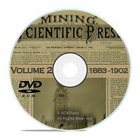 Classic Mining and Scientific Press, 1883 - 1902, 1000 Old Issues Vol 2 DVD V34