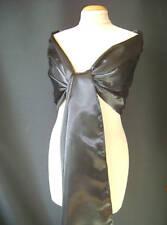 ETOLE écharpe châle stola shawl scarf SATIN MARIAGE MARIEE   coloris NOIR