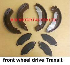 Ford Transit 2.0, 2.3, 2.4, DI, TDI TDCI FWD Front Brake Pads & Rear Brake Shoes