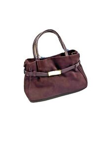 The Perfect Bag Company TPBC Luxury Suede Leather Purse Purple Bucket Italy