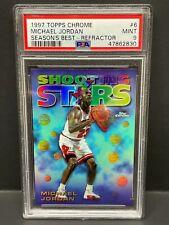 Michael Jordan 1997 Topps Chrome Season's Best REFRACTOR Shooting Stars #6 PSA 9