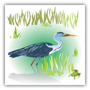 "Heron Car Bumper Sticker Decal  ""SIZES"""