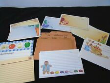 Vintage Blank Recipe Card Lot Small Large Paper Current w/ Box Divider Set