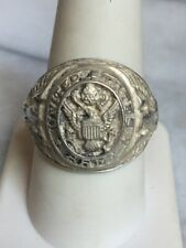 VINTAGE 925 STERLING SILVER US ARMY SIGNET RING. SIZE 9.25
