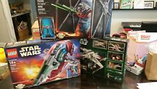 LEGO Star Wars Red Five X-wing 10240 & UCS Tie Fighter 75095 & Slave 1 75060