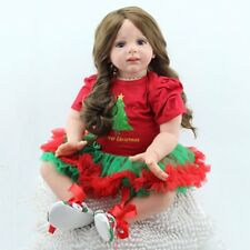 "24""Handmade Reborn Newborn Dolls Toddler Kids Xmas Gift Vinyl Silicone Baby Doll"