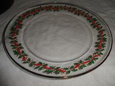 "Set of 9 - Arby's  Holly Ribbon Christmas 8"" Plates Arcorco  Amazing EUC"