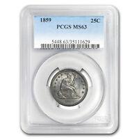 1859 Liberty Seated Quarter MS-63 PCGS - SKU#178019